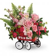 Sweet Little Girl Wagon