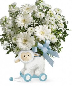 Sweet Little Lamb  in Blue  in Wickliffe, OH | WICKLIFFE FLOWER BARN