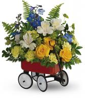 Sweet Little Wagon Bouquet - Boy Fresh Arrangement