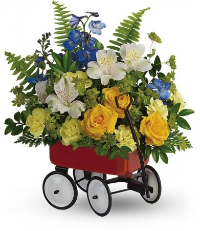 Sweet Little Wagon Bouquet - Boy Fresh Arrangement
