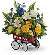 SWEET LITTLE WAGON BOUQUET NEW BABY