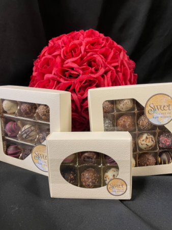 Sweet( LOTW- Kenora Chocolates) Truffles boxes of 6, 9 and 16