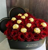 Sweet Love Box of Roses and chocolates