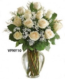 Sweet Love Classic White Flower Arrangement
