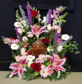 Sweet Love Urn Wreath (Urn not included) Arrangement