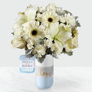 Sweet New Baby Boy by Hallmark Vase Arranged