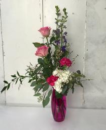 Sweet on you Fresh Vase Arrangement