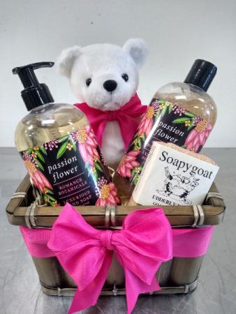 Sweet pampering basket of love