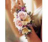Sweet pastel corsage