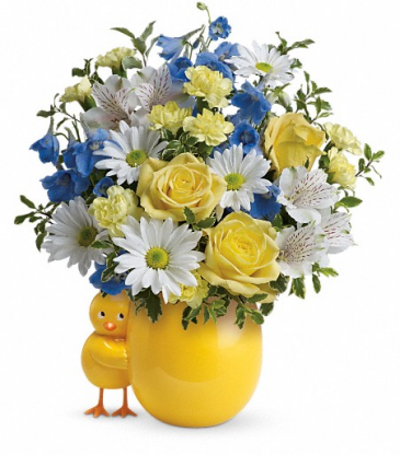 Sweet Peep Blue Bouquet