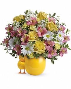 Sweet Peep Bouquet Baby Pink Flower Arrangement In Burbank Ca