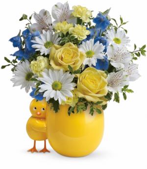 Sweet Peep Bouquet - Baby Blue  in Winnipeg, MB | KINGS FLORIST LTD
