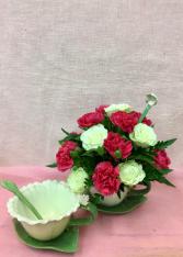 Sweet Petite Porcelain Tea Cup Bouquet