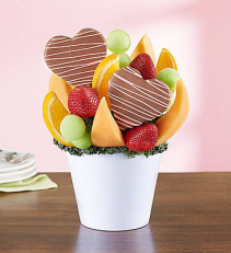Sweet Pineapple Treat with Chocolate Fruit Bouquet