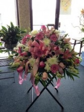 SWEET PINK CASKET  CASKET SPRAY