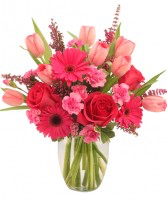 Sweet Pink Mystique Vase Arrangement