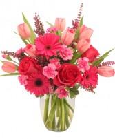 Sweet Pink Mystique Vase Arrangement