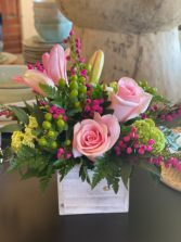 Sweet Pink Rose Dream Wooden Box