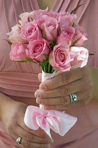 SWEET PINK ROSES WEDDING BOUQUET