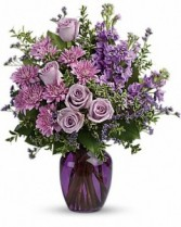 Sweet Purple Fresh Arrangement