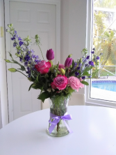 Sweet Purple Tulips