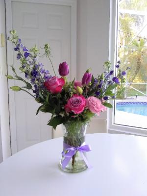 Sweet Purple Tulips  in Delray Beach, FL | Greensical Flowers Gifts & Decor