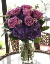 Sweet Purple  Vase Arrangement