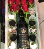 SWEET ROSE BOX - Black Rose Gift Box