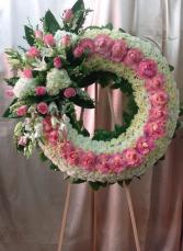 Sweet Rose Standing Sympathy Wreath