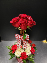 Sweet Rose Topiary All Around Arrangement