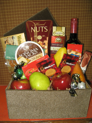 Sweet & Savoury Fruit Selection Gift Basket in Vernon, BC | SIMPLY BASKETS AND HARRIS FLOWERS