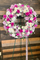 Sweet Serenity  Fresh floral wreath