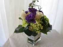 SWEET SHIMMER Cube Vase Arrangement