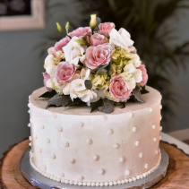 Sweet & Simple Wedding Cake Sweet Blossoms