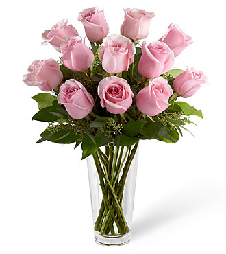 SWEET SOFT PINK ROSE VASE