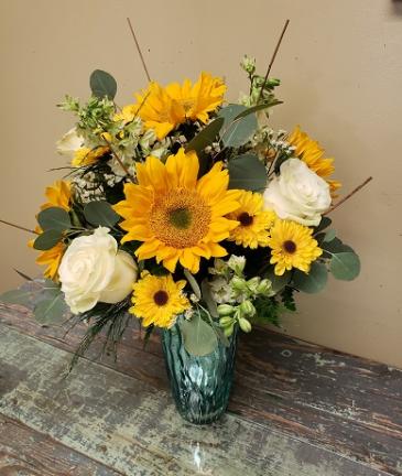 """""""Southern Sunshine!"""" Vased Arrangement"""
