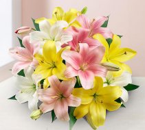 Sweet Spring Lilies Hand tied bouquet
