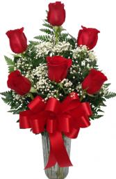 Sweet Suitor Half Dozen Rose Vase