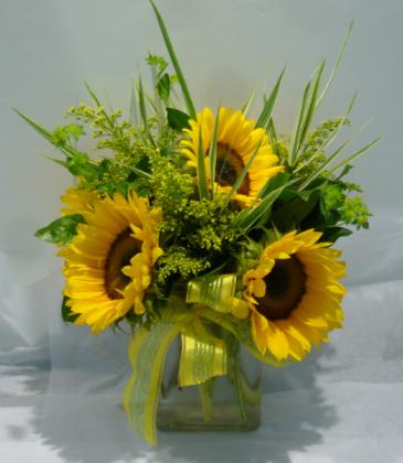 SWEET SUNFLOWERS Vase Arrangement