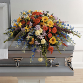 Sweet Sunrise Casket spray