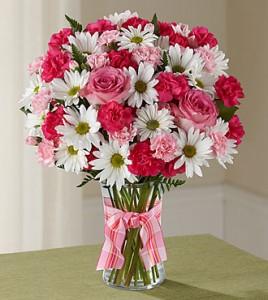Sweet Surprise Fresh beautiful flowers in vase