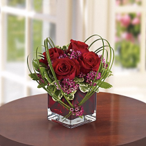 SWEET THOUGHTS BOUQUET WITH RED ROSES anniversary