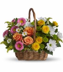 Sweet Tranquility Basket Fresh Arrangement