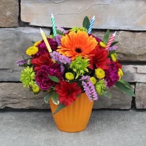 Sweet Treat - Orange Birthday Arrangement in Woodinville, WA | Woodinville Florist®