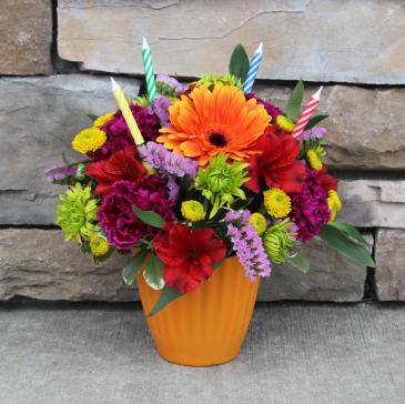 Sweet Treat - Orange Birthday Arrangement