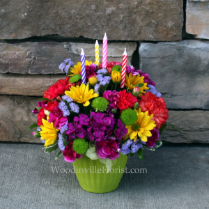 Sweet Treat - Green Birthday Arrangement in Woodinville, WA | Woodinville Florist®