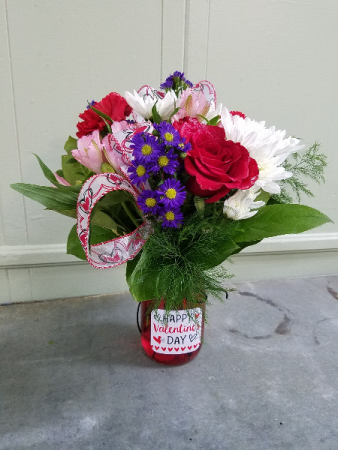 Sweet Treat Valentine Vase Arrangement