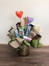 Sweet treats Chocolate bar bouquet