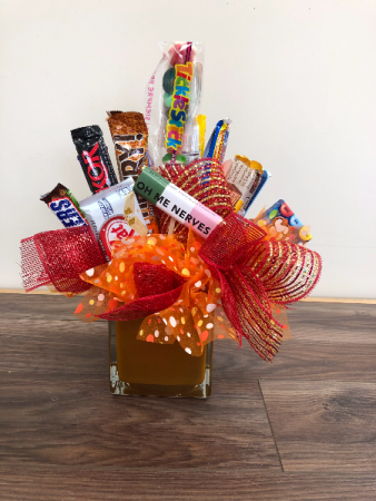 Sweet treats for mom Candy bar arrangement