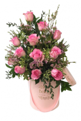 Sweet Unique  15 Pink Roses in Box